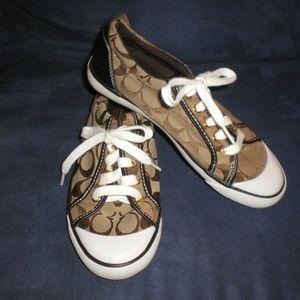 COACH Brown Barrett Tennis Shoes/Sneakers sz 7B